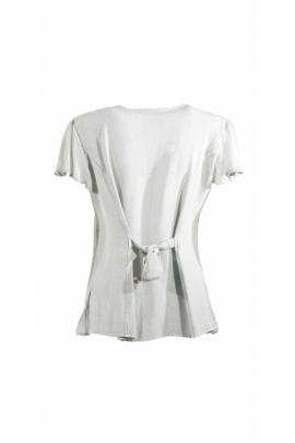Bonita blusa bordada romántico de Piedra de Lavar