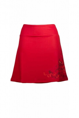 Légère jupe courte beau bouquet imprimé