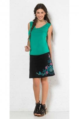 Lightweight printed short skirt beautiful bouquet