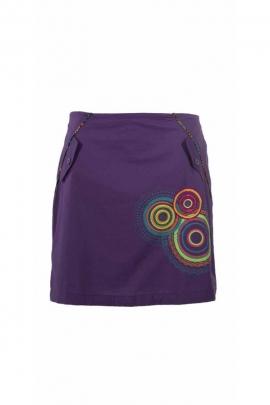 short ethnic printed cotton patch mandala skirt