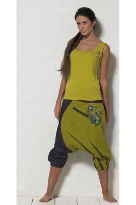 Sarouel ethnique pour femme bicolore abysse