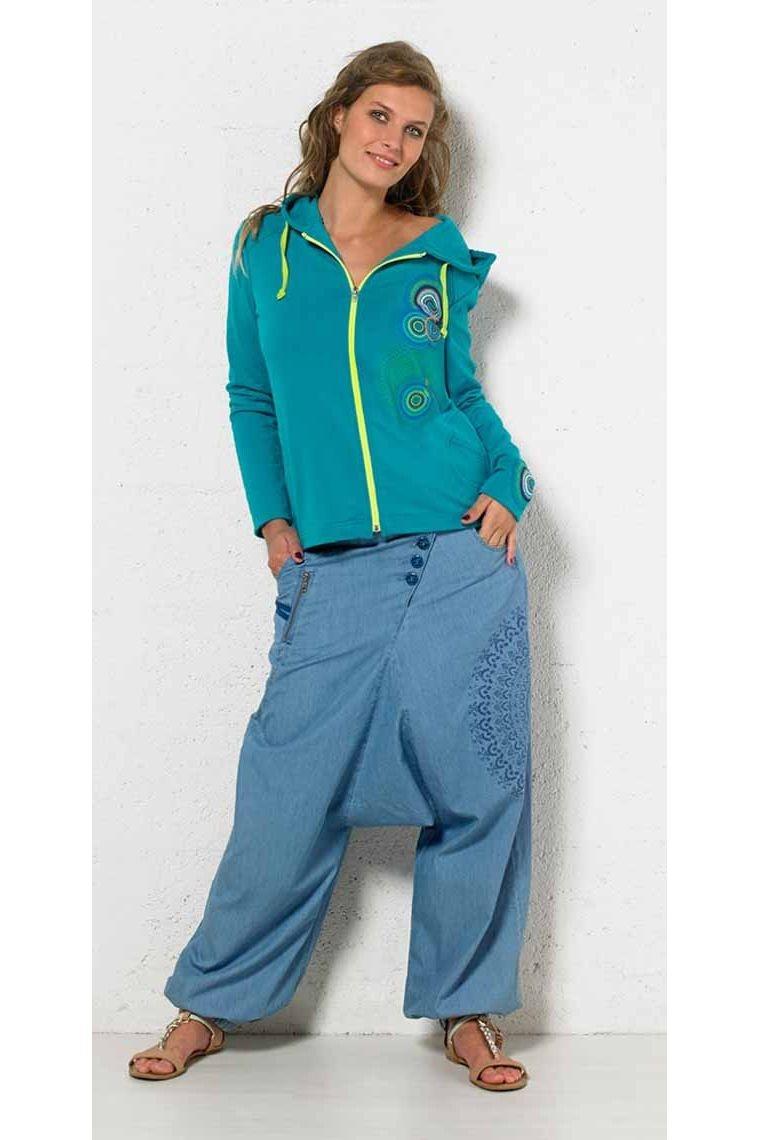 64f1c19ce0 Harén pantalones de jean de 100 % algodón para mujer