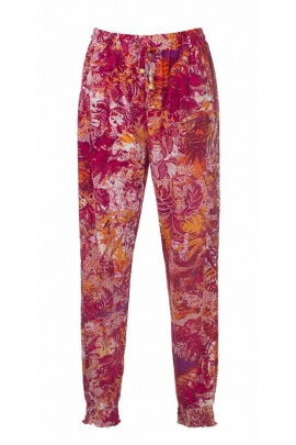 Joli pantalon fluide et décontracté fleuri