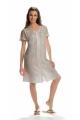 Pretty embroidered dress medium long stonewashed