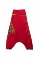 Harem pants colorful cotton print edged
