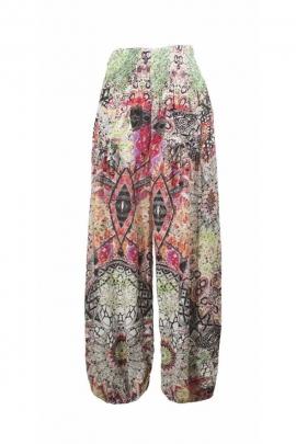 Pantalon bouffant imprimé tribal pour un joli look baba cool