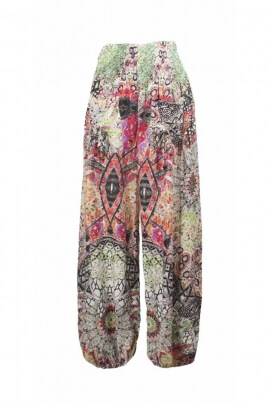 Tribal print baggy trousers for a nice look hippie