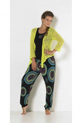 Baggy pants with large design mandalas