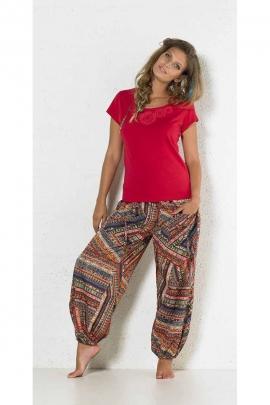 Harén pantalones de colores con manguito de poliéster impresa