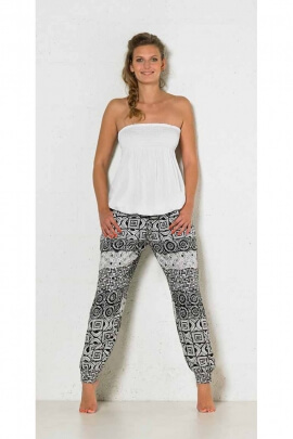 Baggy trousers viscose printed Cubic