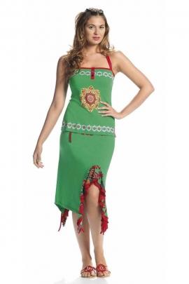 Jupe mi-longue légère, asymétrique avec bordures boho chic