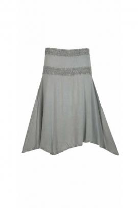 United Midi Skirt in viscose, stone wash