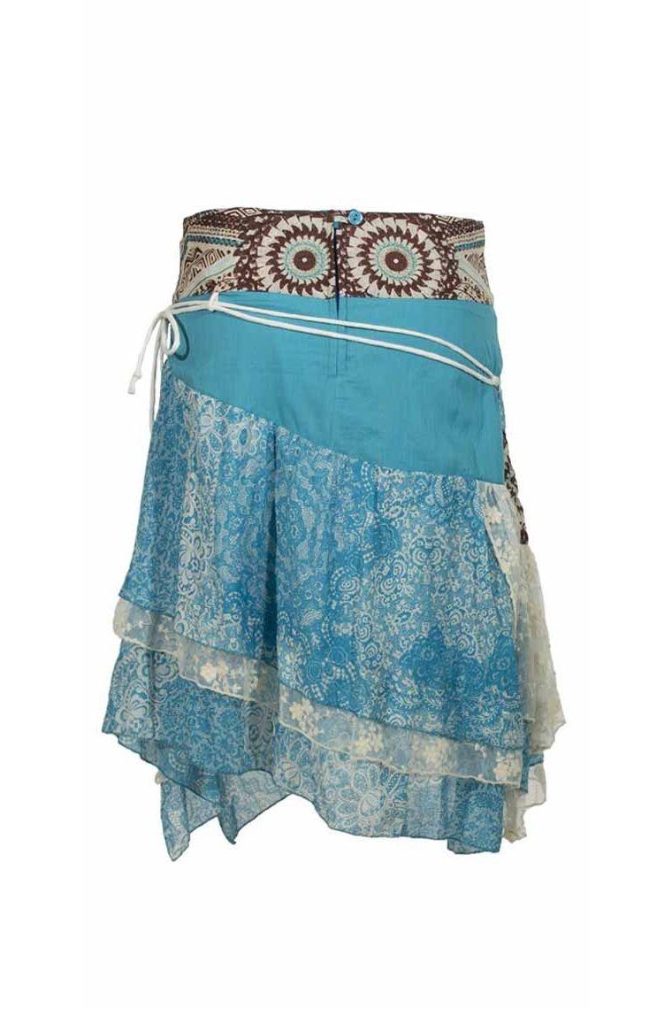 jupe coton colorée imprimée, été longue et courte, originale ethnique, fleurie