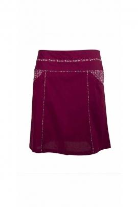 Jolie jupe courte en coton popeline liseré imprimé