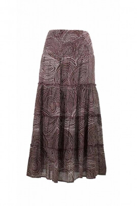 Sailing Skirt lined cotton, printed aboriginal