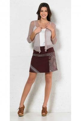 Jupe courte légère en coton, imprimé aborigène en graine