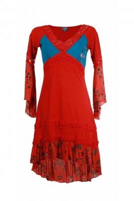 Robe mi-longue asymétrique originale style slave