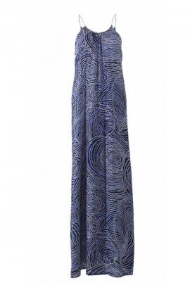 Robe longue stylée et originale, imprimé aborigène