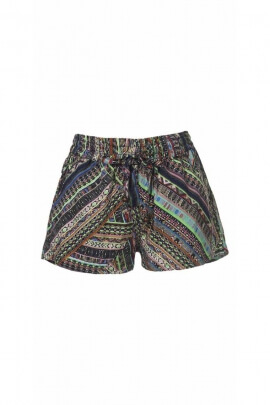 Short casual short, elasticated waist, print Maya