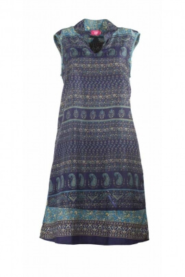 Pretty casual Indian sari tunic sleeveless