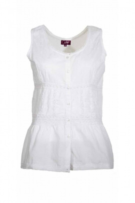 Blouse embroidered cotton, romantic, tank top style