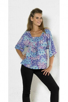 Blouse light kimono, paisley, pastel colors