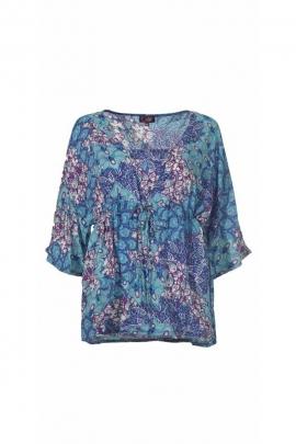 Blouse light kimono, paisley, pastel colors
