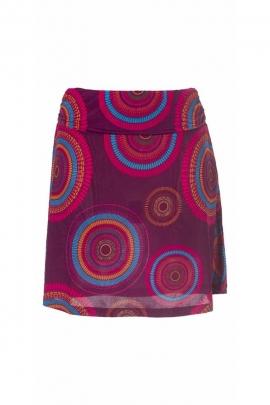 Magnifique jupe courte et fluide, motif mandala, style bohème