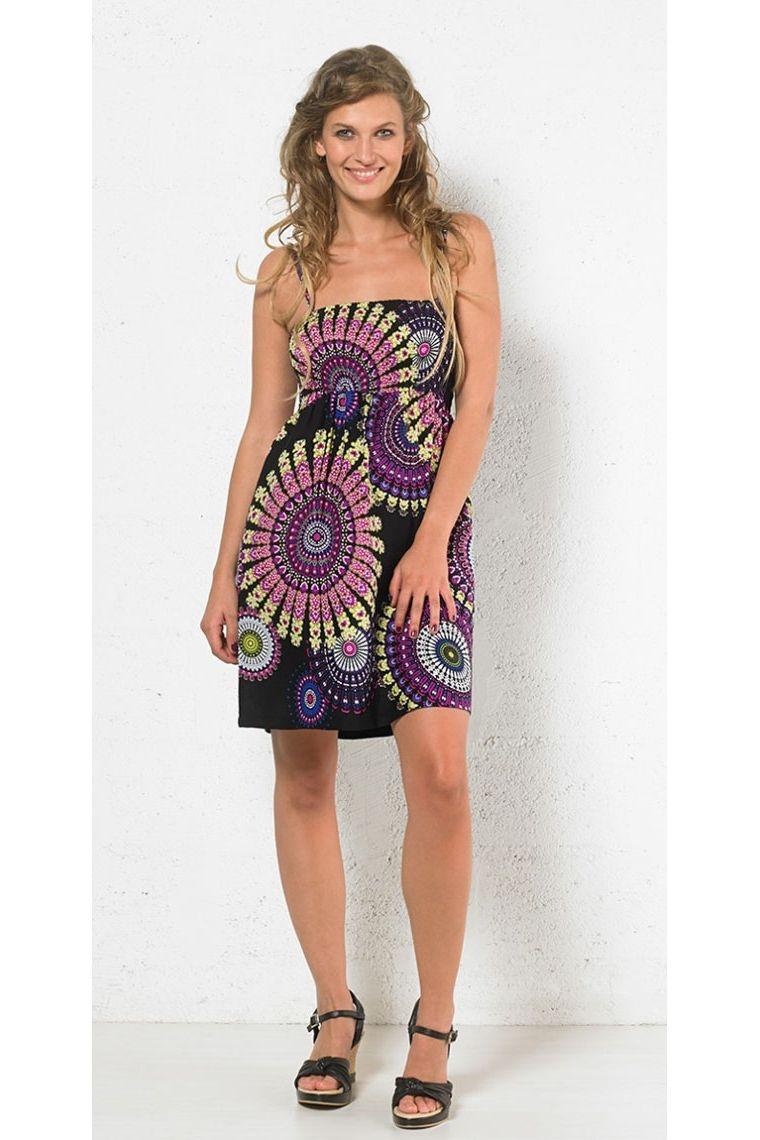 a50282647c Mini vestido de verano impreso