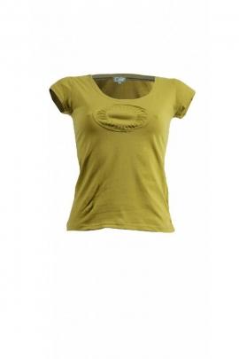 Tee-shirt original en coton, manches courtes, couleur uni patch abysse