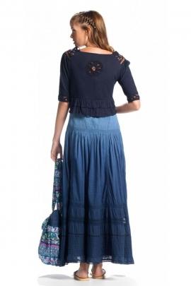 Light bolero with short sleeves, lace, boho chic style