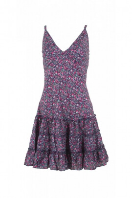 Pretty mini dress with adjustable straps, Ditsy Print