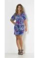 Short flowery dress mesh hat style, short sleeves