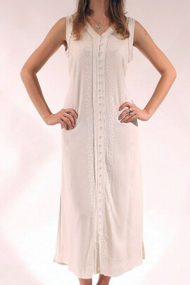 Dress in long viscose stone wash