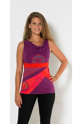 Tee-shirt patchwork original, hippie chic et cool