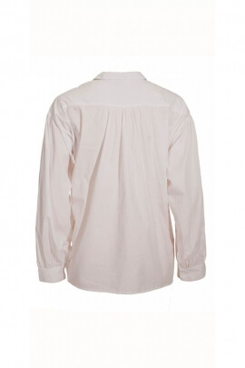 Original Medieval shirt for men, painter style white cotton poplin