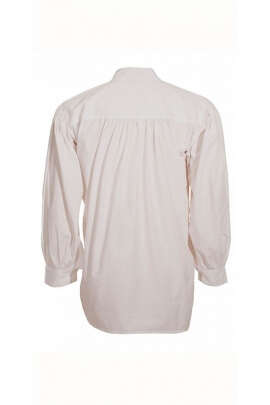 White Medieval shirt for men, with laces, cotton poplin