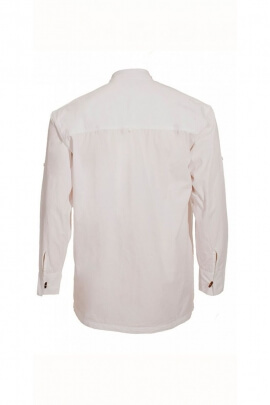 Original white shirt grandfather style cotton poplin with 3 wooden buttons