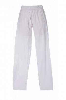 End trousers and united to man, finishing stone wash, elasticated waist, cotton
