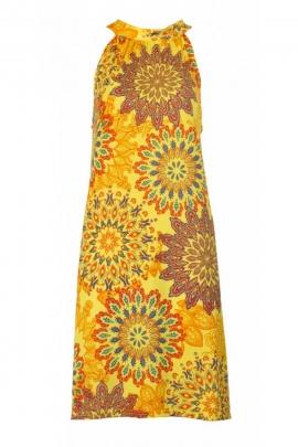 Robe courte bain de soleil, décontractée et colorée, style trapèze