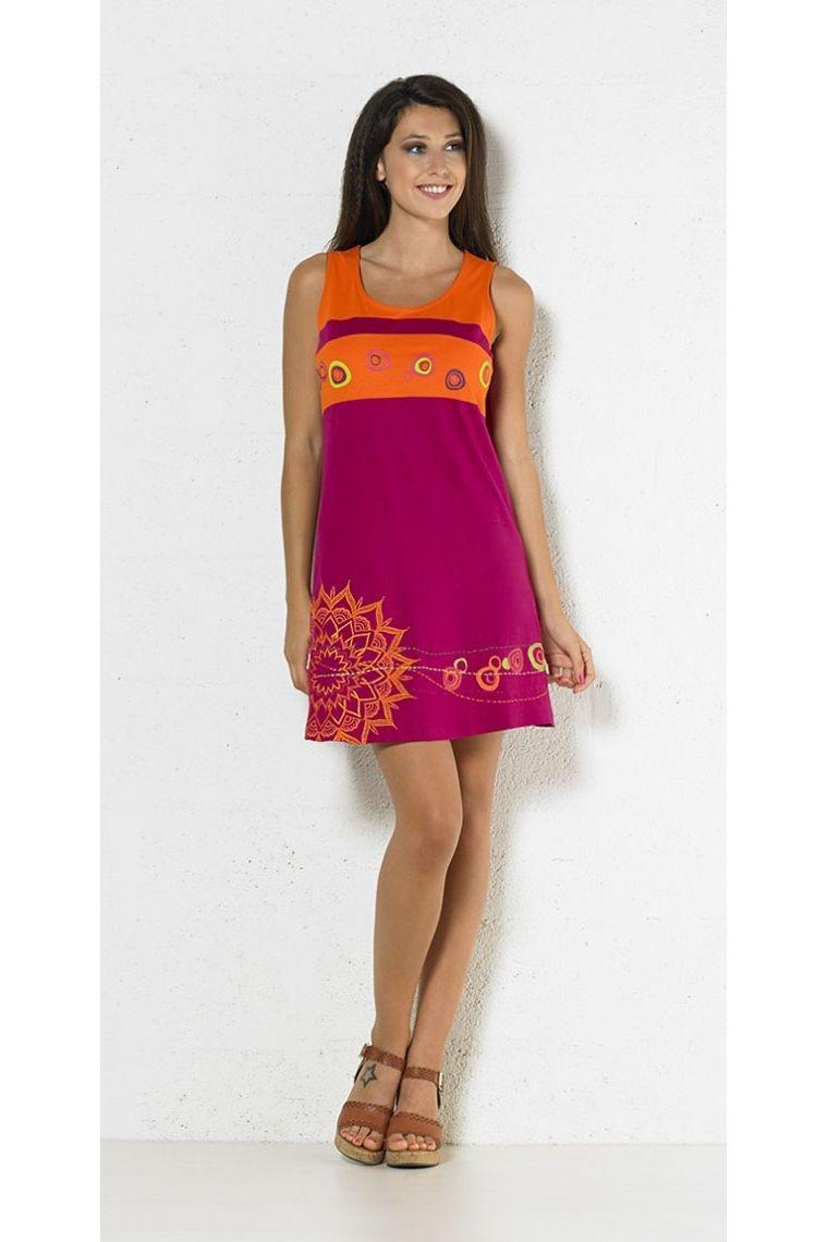 bd4b84a66a Vestido corto étnico de colores