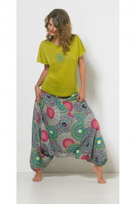 Tee-shirt slub original, ouvert dans le dos, en polyester