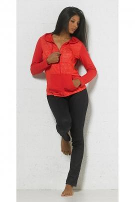 Veste à capuche zippée, originale et décontractée, style boho ethnique