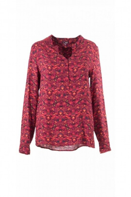 Lightweight and original blouse, long sleeves, printed Nordic
