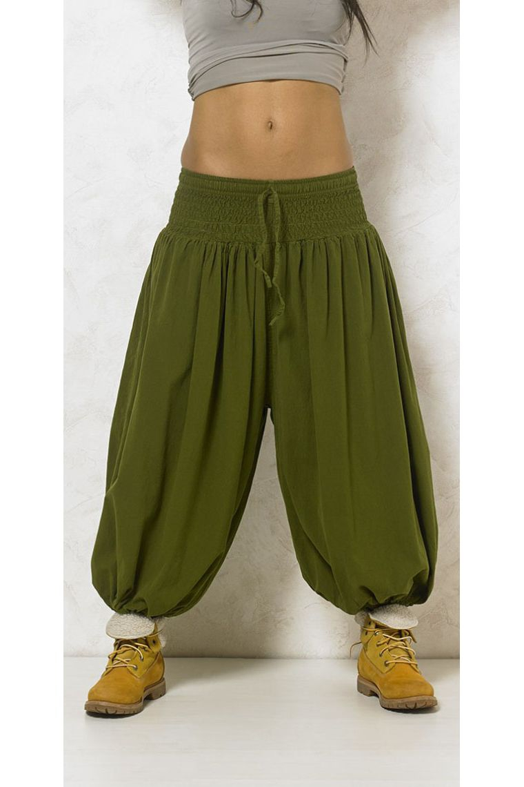 Harem Pantalones Etnicos Reino De Algodon Para Mujer Estilo De Aladin Y Ajustadas Tamano Barnizada