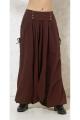Sarouel pour femme original, style ethnique baba cool, en coton uni