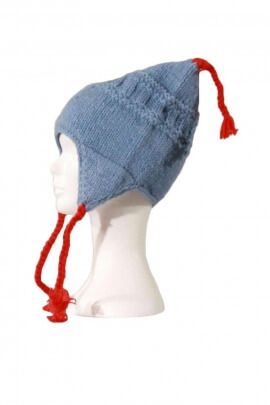 Bonnet tribal du Pérou, original, en laine doublé polaire