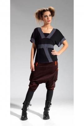Falda convertible, pantalones harem, original y colorido, patrones de bordado y fronteras