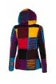 Blouson arlequin multicolore, style baba cool, pièces de tissus coupés rasoir