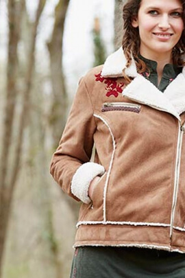 Canadian suede jacket, lined velvet, soft and warm